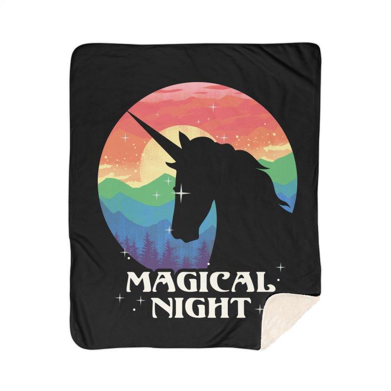 Magical Night Home Sherpa Blanket Blanket by dandingeroz's Artist Shop