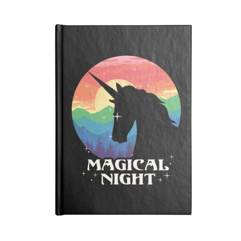 Magical Night Accessories Lined Journal Notebook by dandingeroz's Artist Shop