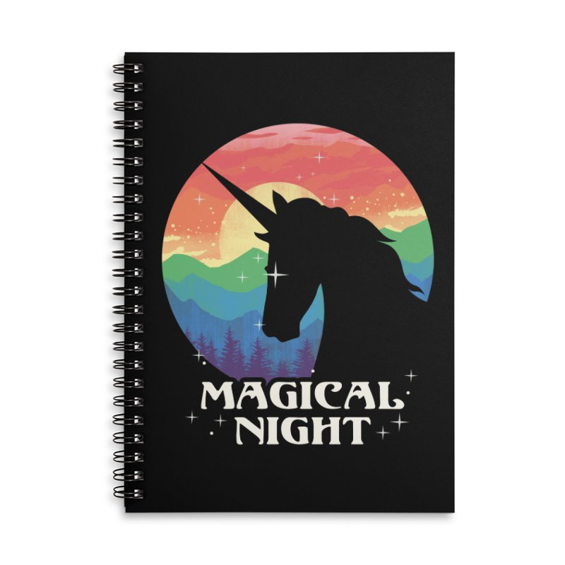 Magical Night Accessories Lined Spiral Notebook by dandingeroz's Artist Shop