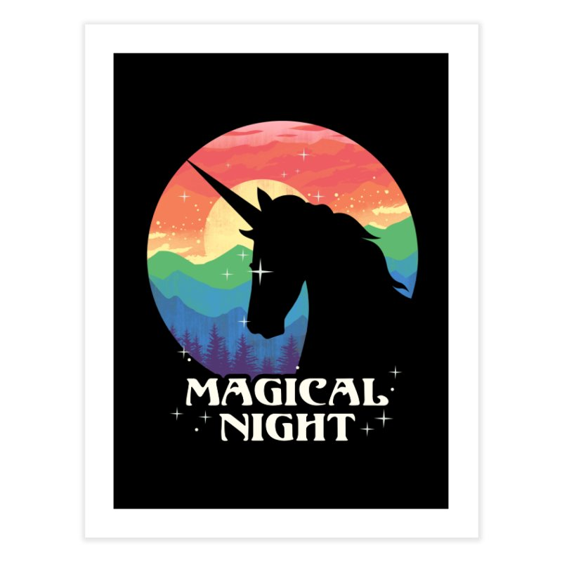 Magical Night Home Fine Art Print by dandingeroz's Artist Shop