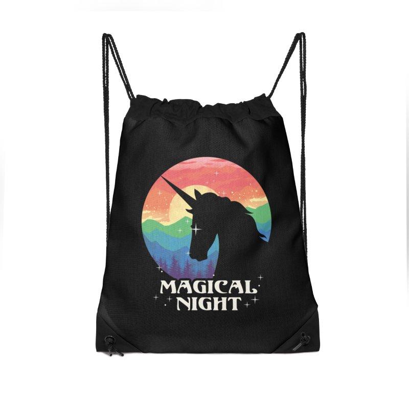 Magical Night Accessories Drawstring Bag Bag by dandingeroz's Artist Shop
