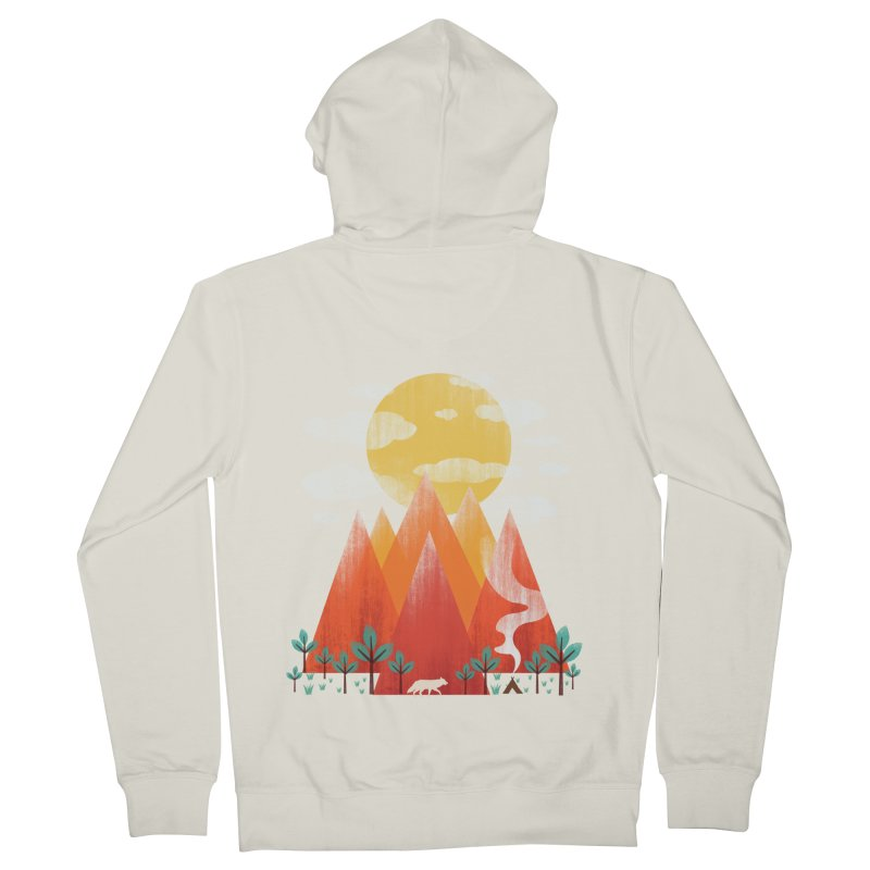 Hunting Day Men's French Terry Zip-Up Hoody by dandingeroz's Artist Shop