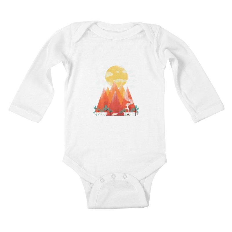 Hunting Day Kids Baby Longsleeve Bodysuit by dandingeroz's Artist Shop