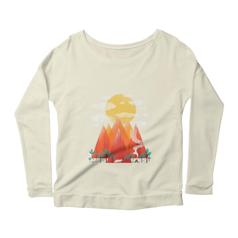Hunting Day Women's Scoop Neck Longsleeve T-Shirt by dandingeroz's Artist Shop