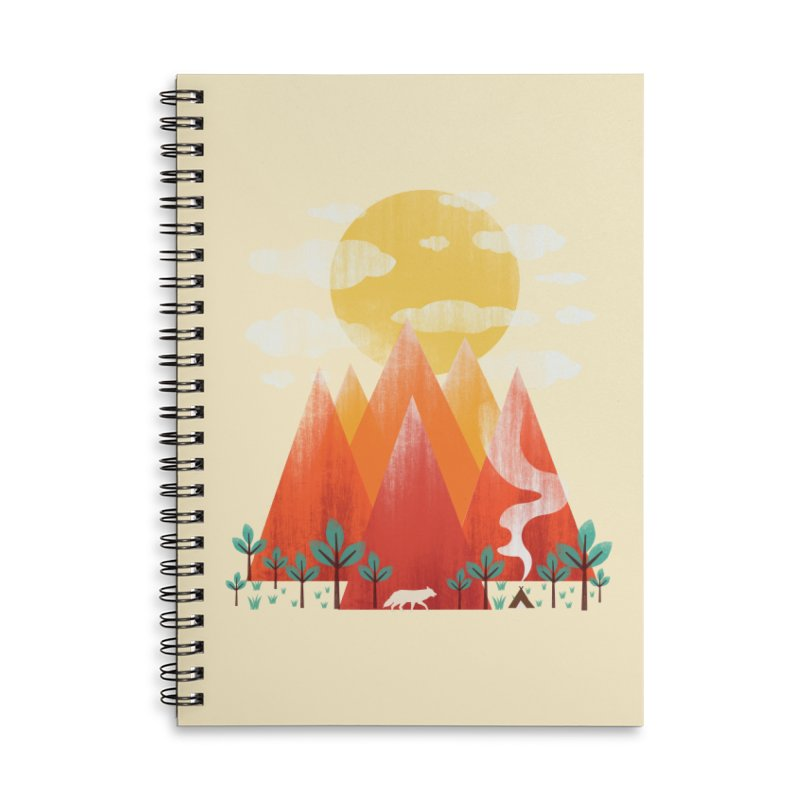 Hunting Day Accessories Lined Spiral Notebook by dandingeroz's Artist Shop