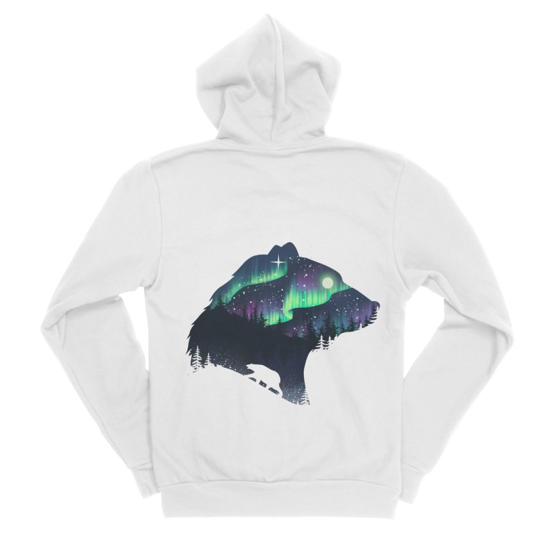 Northern Lights Men's Sponge Fleece Zip-Up Hoody by dandingeroz's Artist Shop
