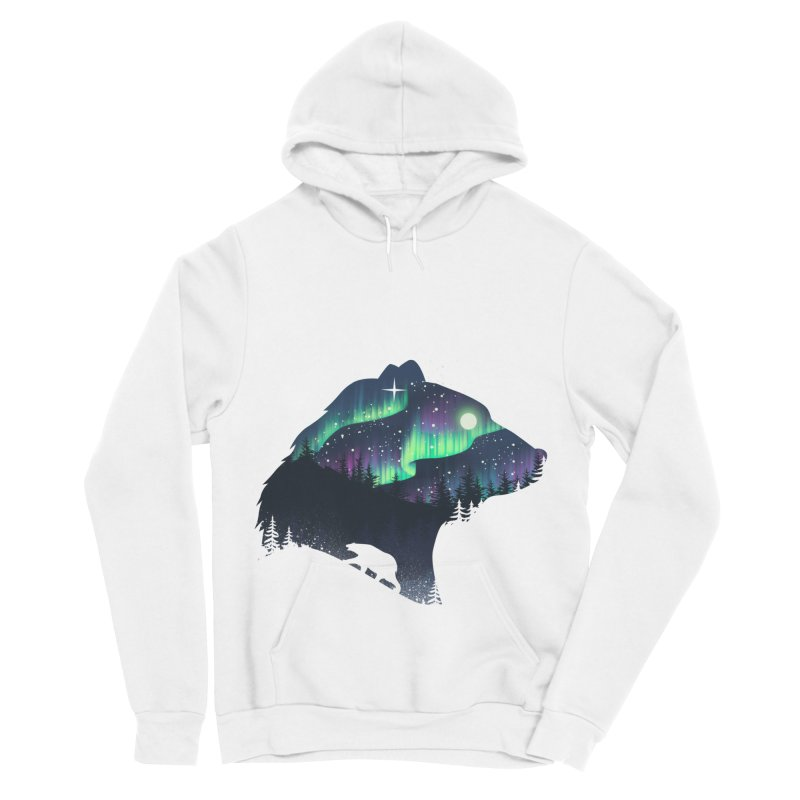 Northern Lights Men's Sponge Fleece Pullover Hoody by dandingeroz's Artist Shop