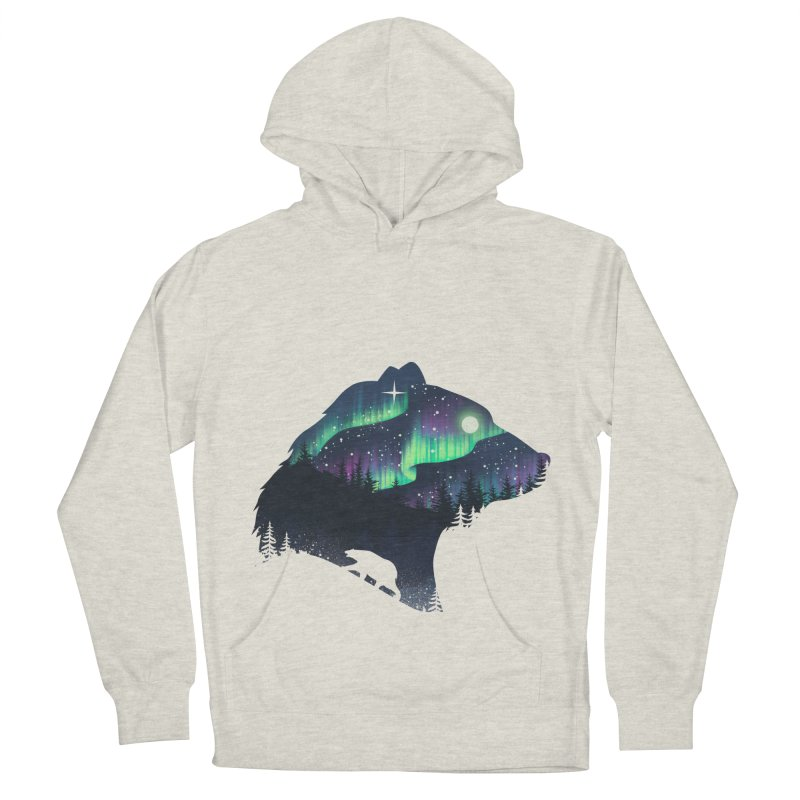Northern Lights Men's French Terry Pullover Hoody by dandingeroz's Artist Shop