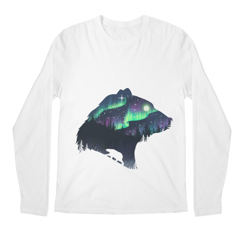 Northern Lights Men's Regular Longsleeve T-Shirt by dandingeroz's Artist Shop