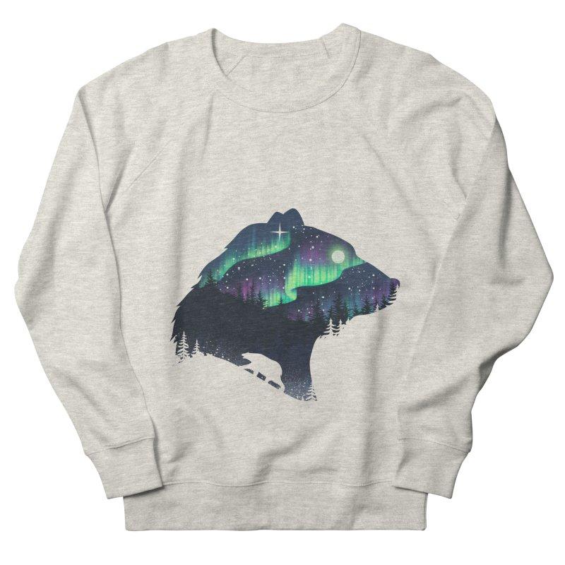 Northern Lights Men's French Terry Sweatshirt by dandingeroz's Artist Shop