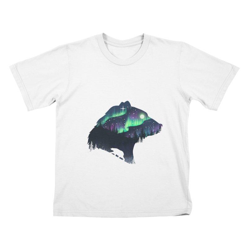 Northern Lights Kids T-Shirt by dandingeroz's Artist Shop