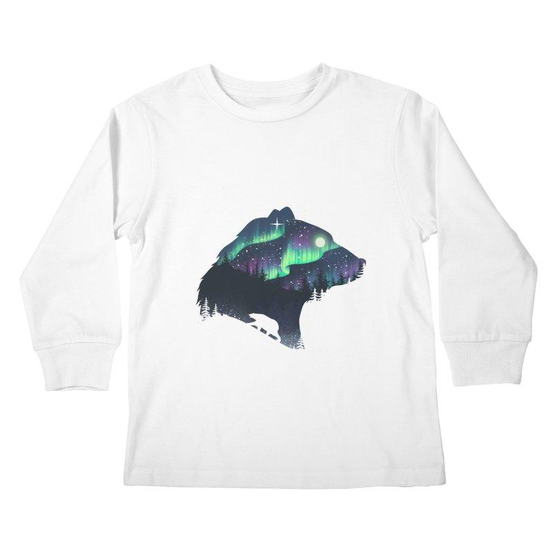 Northern Lights Kids Longsleeve T-Shirt by dandingeroz's Artist Shop