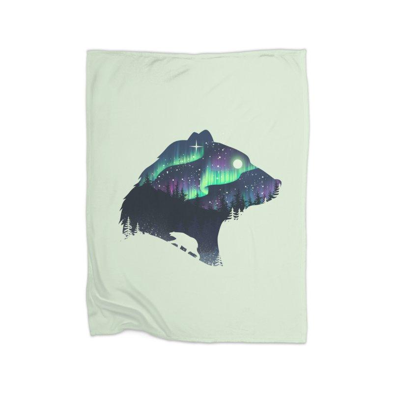 Northern Lights Home Fleece Blanket Blanket by dandingeroz's Artist Shop