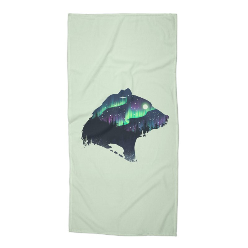 Northern Lights Accessories Beach Towel by dandingeroz's Artist Shop