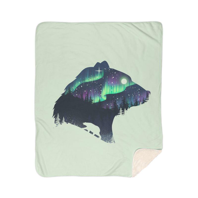 Northern Lights Home Sherpa Blanket Blanket by dandingeroz's Artist Shop
