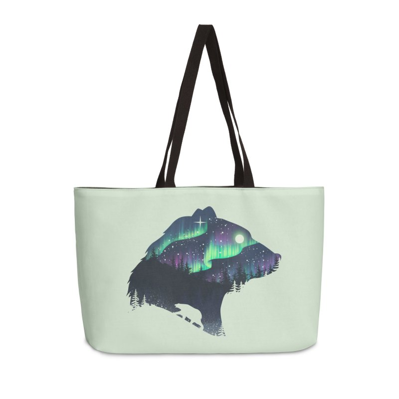 Northern Lights Accessories Weekender Bag Bag by dandingeroz's Artist Shop