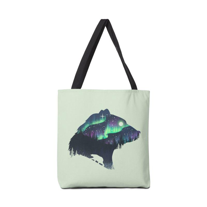 Northern Lights Accessories Tote Bag Bag by dandingeroz's Artist Shop