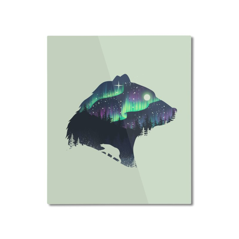Northern Lights Home Mounted Aluminum Print by dandingeroz's Artist Shop