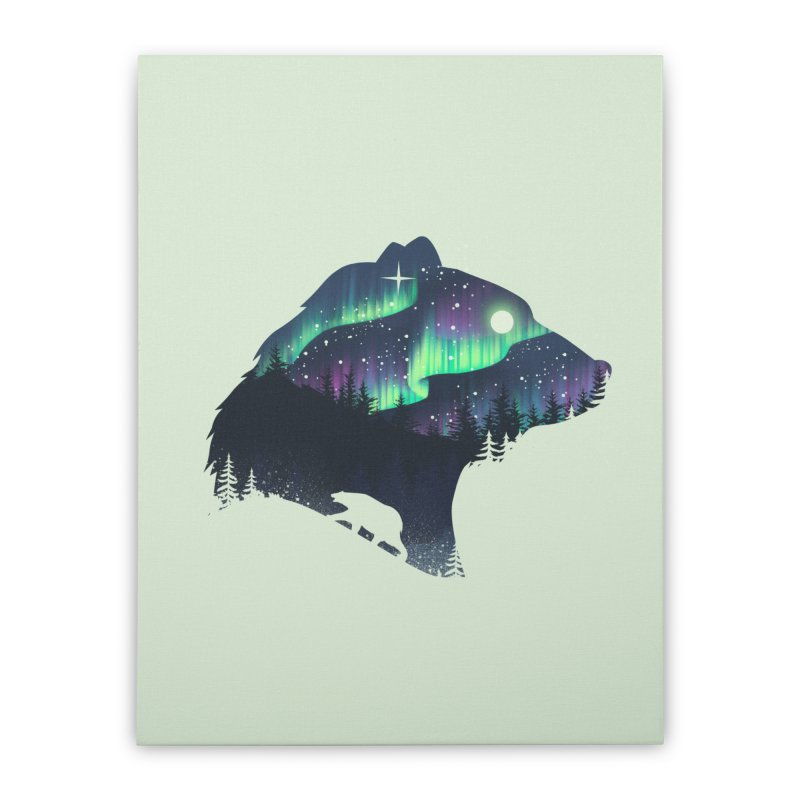 Northern Lights Home Stretched Canvas by dandingeroz's Artist Shop