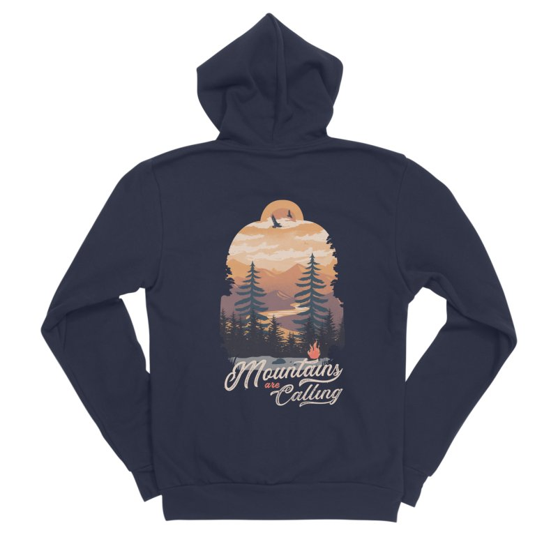 Camping Club Men's Sponge Fleece Zip-Up Hoody by dandingeroz's Artist Shop