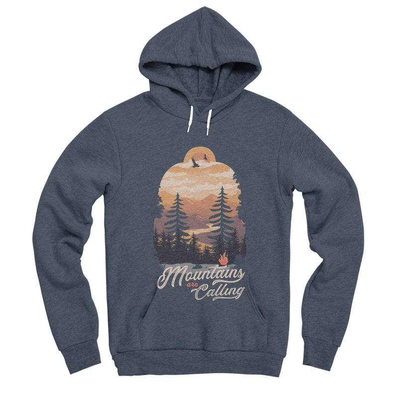Camping Club Men's Sponge Fleece Pullover Hoody by dandingeroz's Artist Shop