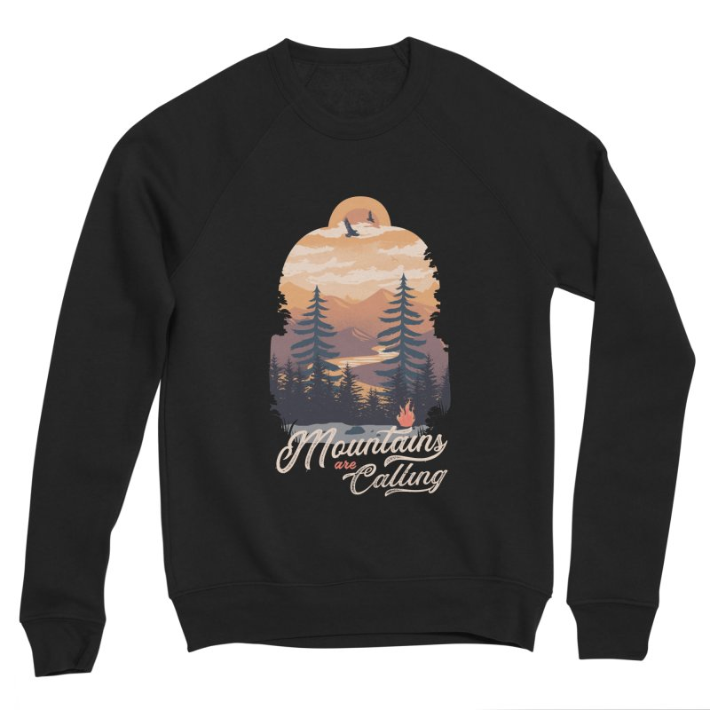 Camping Club Men's Sponge Fleece Sweatshirt by dandingeroz's Artist Shop