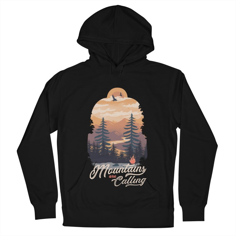 Camping Club Women's French Terry Pullover Hoody by dandingeroz's Artist Shop