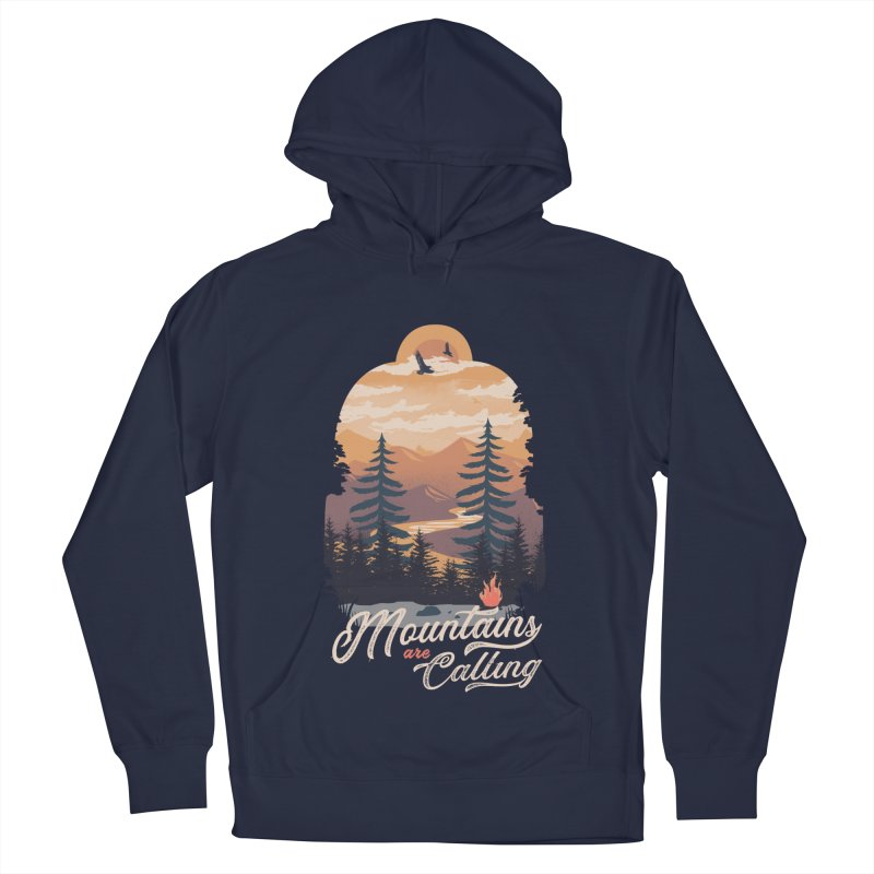 Camping Club Men's French Terry Pullover Hoody by dandingeroz's Artist Shop