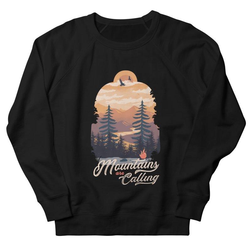 Camping Club Men's French Terry Sweatshirt by dandingeroz's Artist Shop