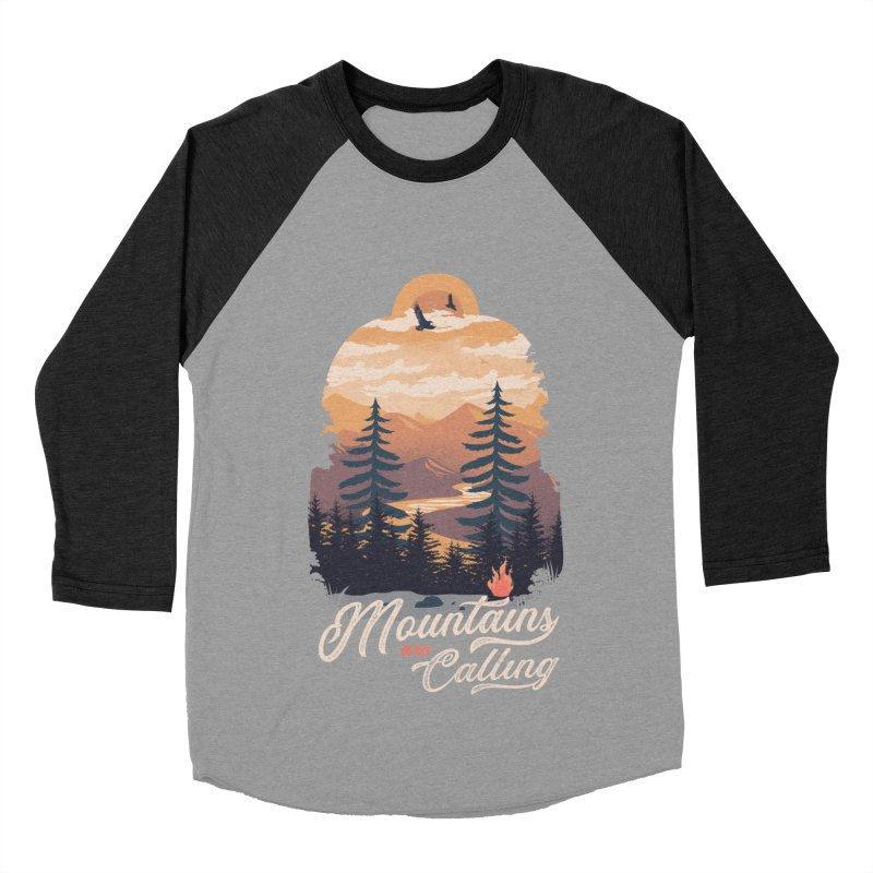 Camping Club Men's Baseball Triblend Longsleeve T-Shirt by dandingeroz's Artist Shop