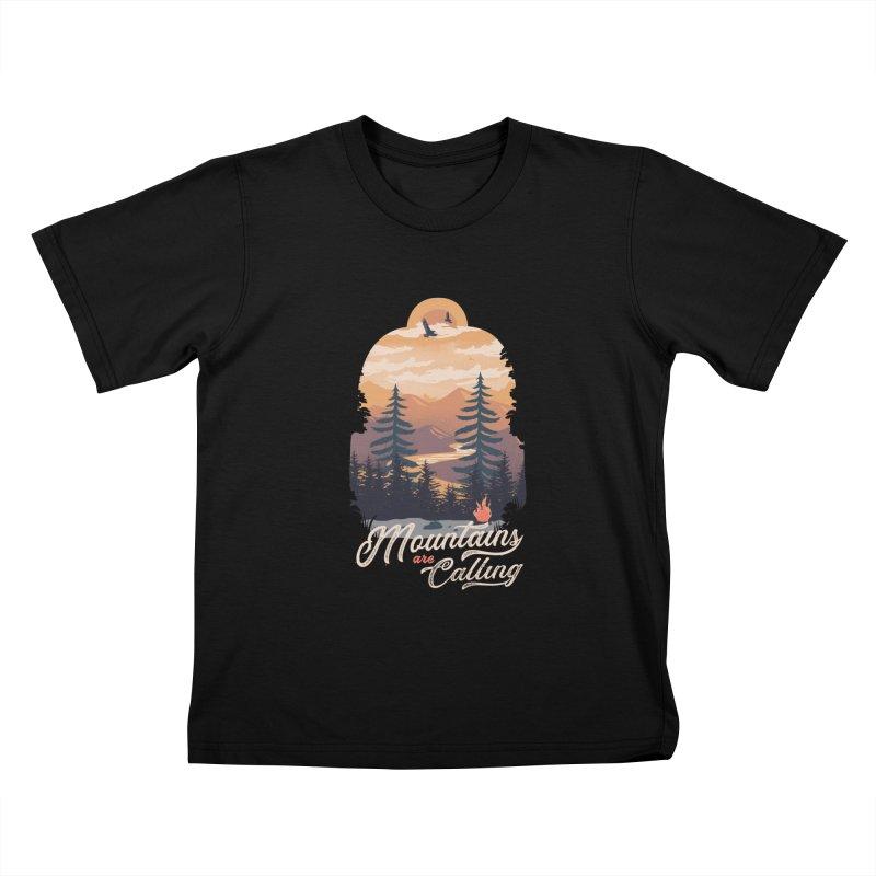 Camping Club Kids T-Shirt by dandingeroz's Artist Shop