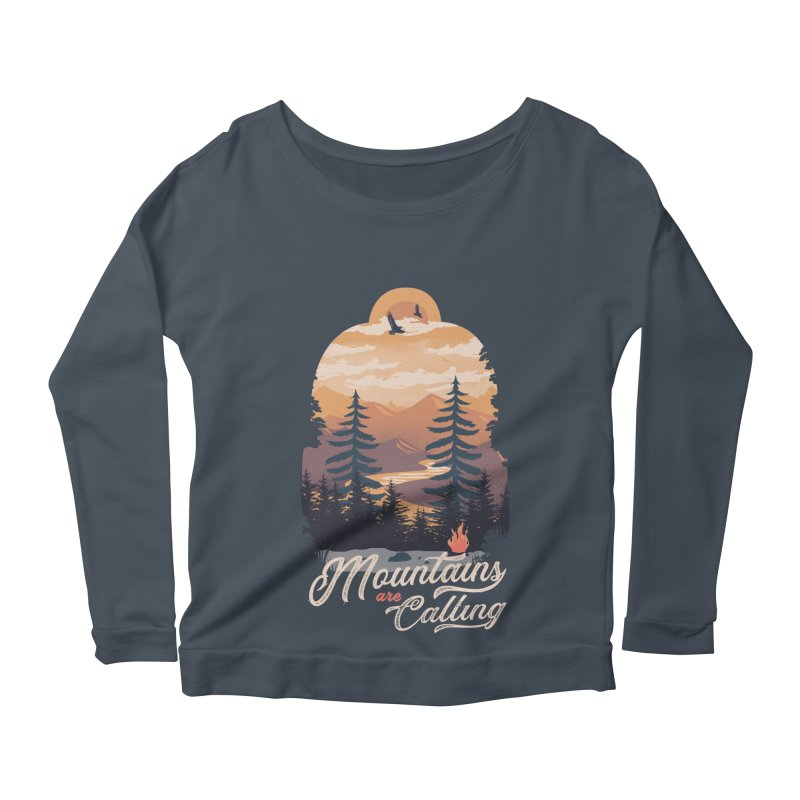 Camping Club Women's Scoop Neck Longsleeve T-Shirt by dandingeroz's Artist Shop