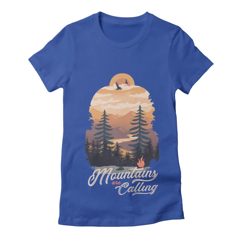 Camping Club Women's Fitted T-Shirt by dandingeroz's Artist Shop