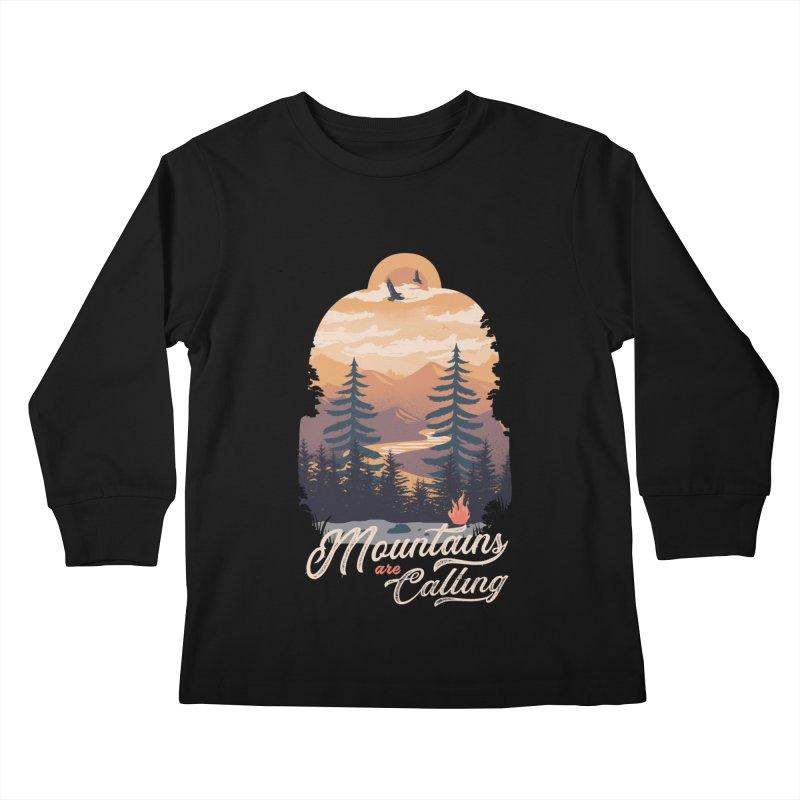 Camping Club Kids Longsleeve T-Shirt by dandingeroz's Artist Shop