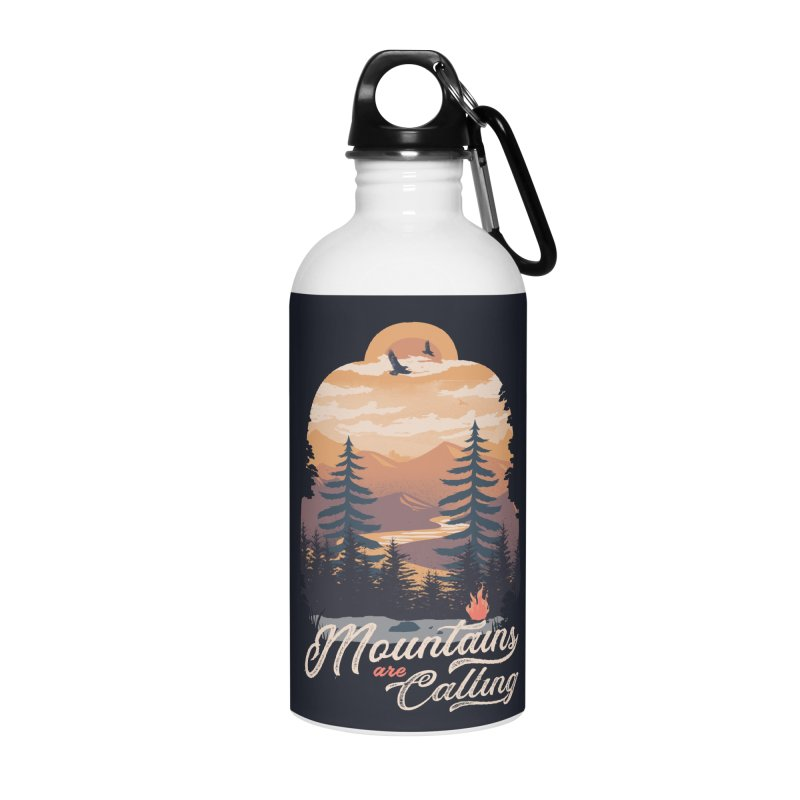 Camping Club Accessories Water Bottle by dandingeroz's Artist Shop
