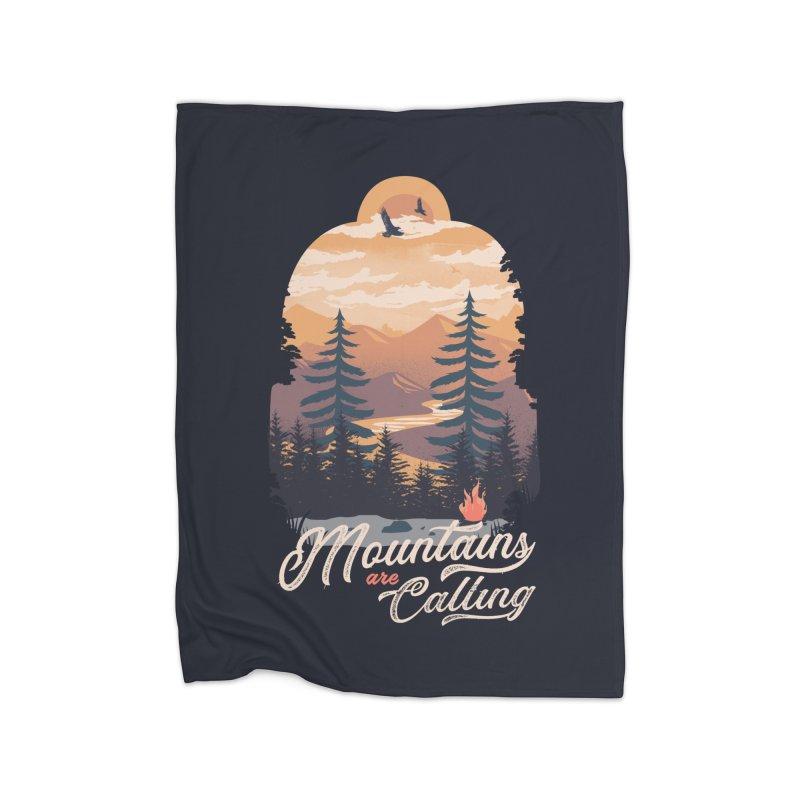 Camping Club Home Fleece Blanket Blanket by dandingeroz's Artist Shop