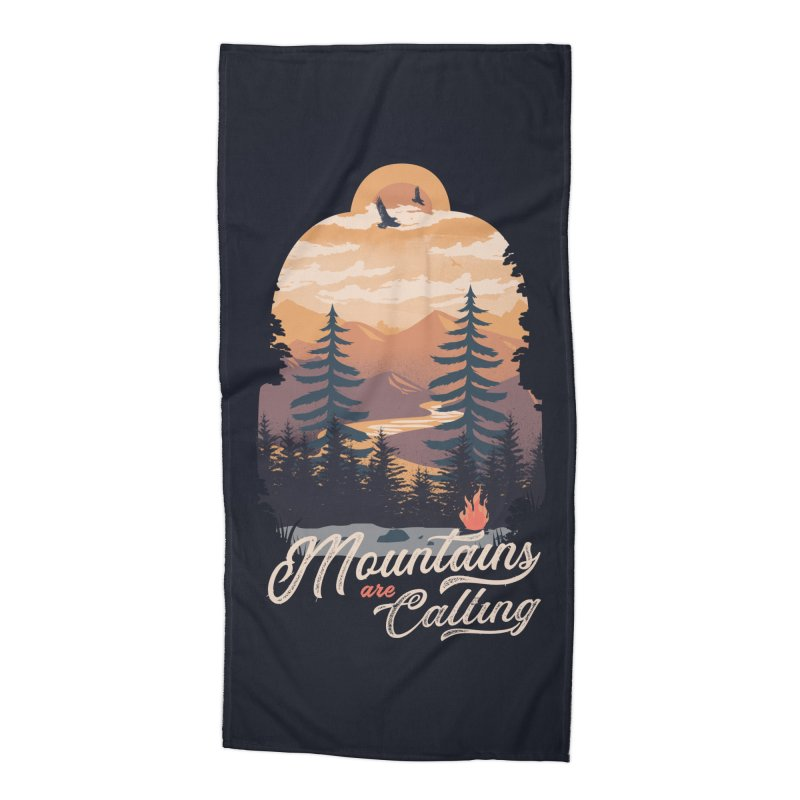 Camping Club Accessories Beach Towel by dandingeroz's Artist Shop