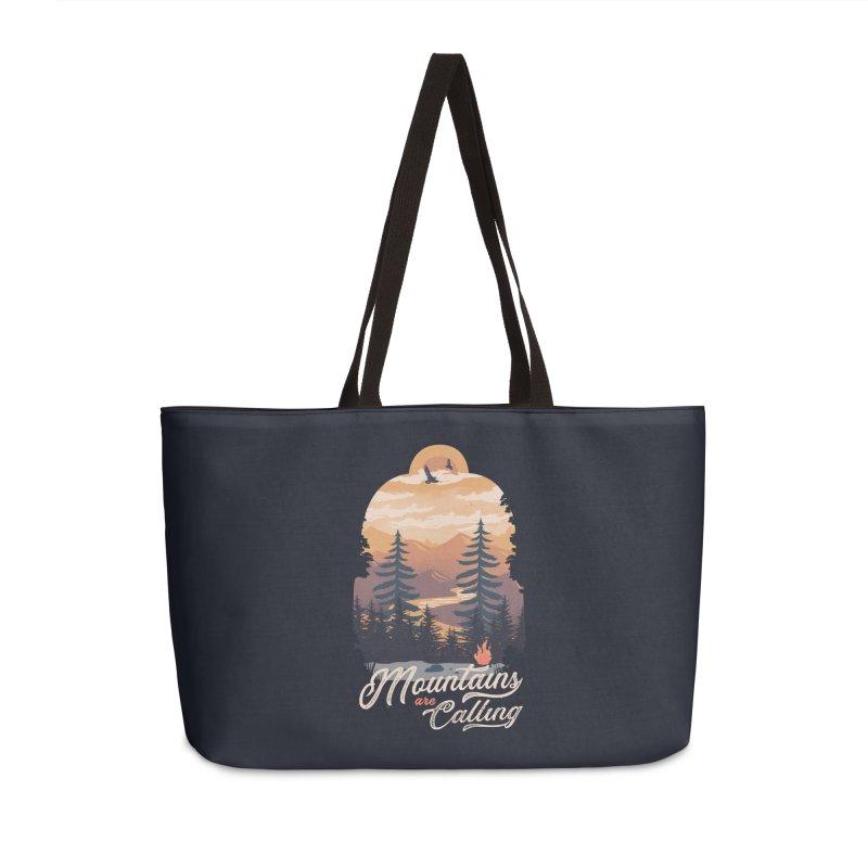 Camping Club Accessories Weekender Bag Bag by dandingeroz's Artist Shop