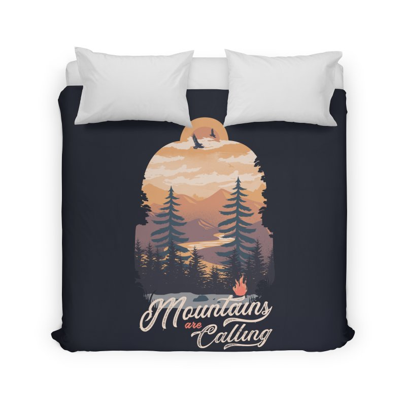 Camping Club Home Duvet by dandingeroz's Artist Shop