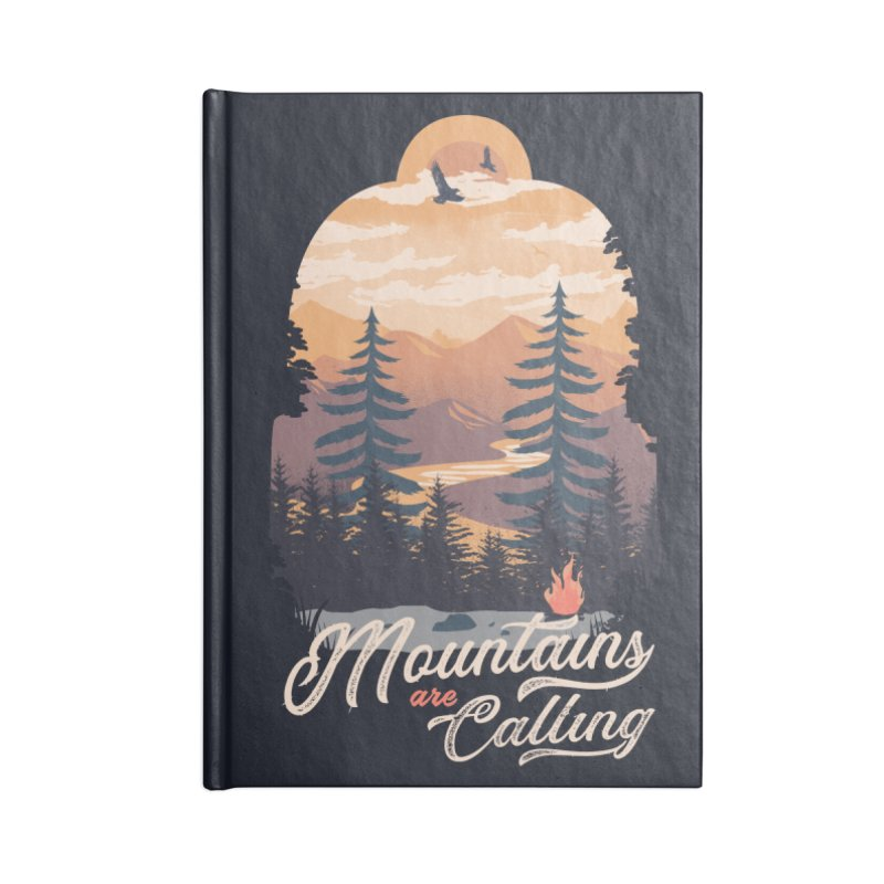 Camping Club Accessories Lined Journal Notebook by dandingeroz's Artist Shop