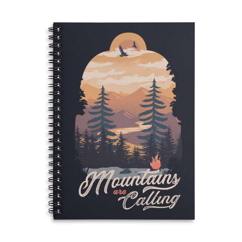 Camping Club Accessories Lined Spiral Notebook by dandingeroz's Artist Shop
