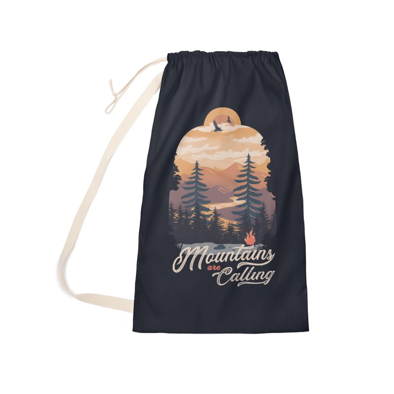 Camping Club Accessories Laundry Bag Bag by dandingeroz's Artist Shop