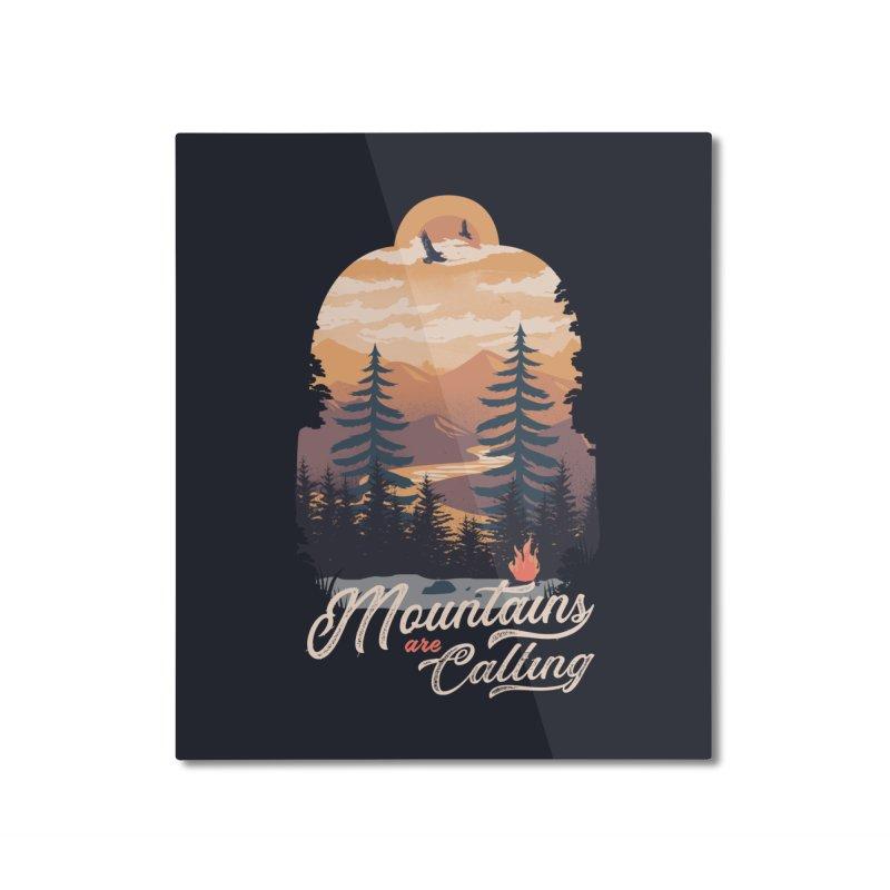 Camping Club Home Mounted Aluminum Print by dandingeroz's Artist Shop