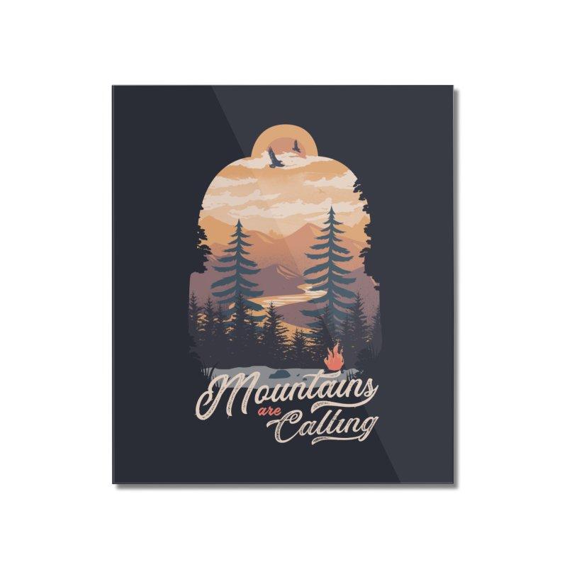 Camping Club Home Mounted Acrylic Print by dandingeroz's Artist Shop
