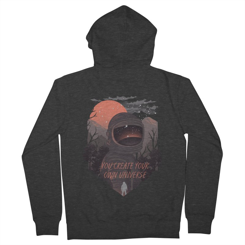 Create your own universe Men's French Terry Zip-Up Hoody by dandingeroz's Artist Shop