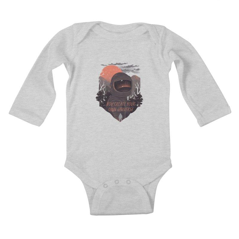 Create your own universe Kids Baby Longsleeve Bodysuit by dandingeroz's Artist Shop
