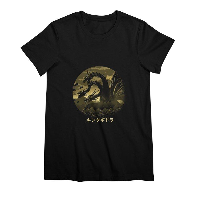 King Ghidorah Women's Premium T-Shirt by dandingeroz's Artist Shop