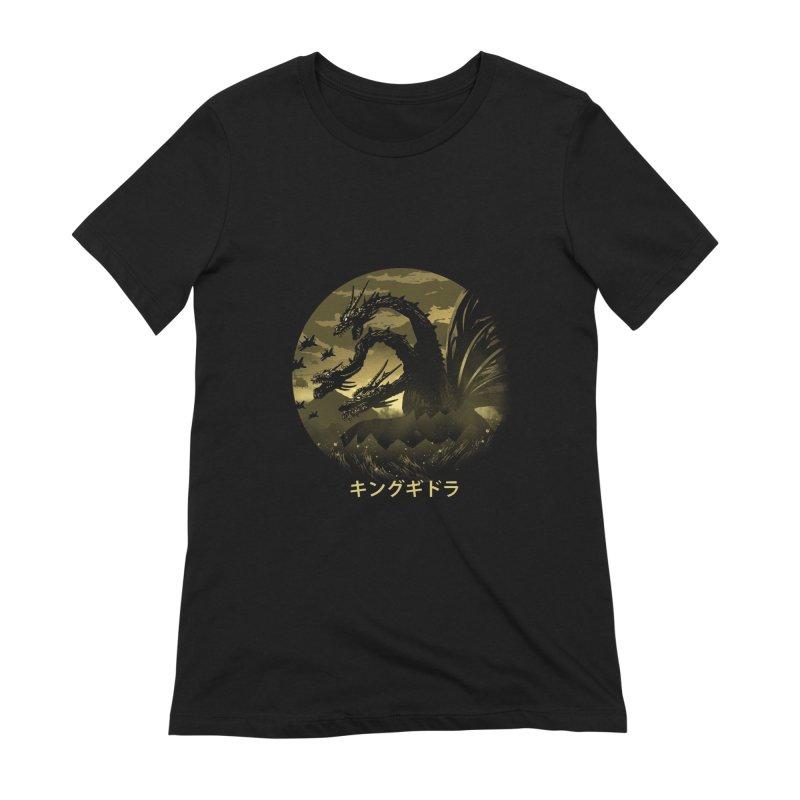 King Ghidorah Women's Extra Soft T-Shirt by dandingeroz's Artist Shop
