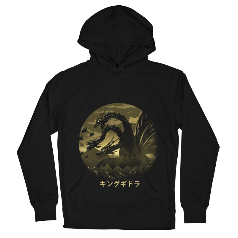 King Ghidorah Men's French Terry Pullover Hoody by dandingeroz's Artist Shop