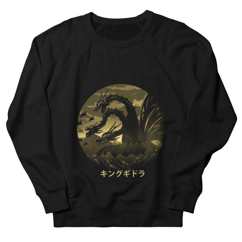 King Ghidorah Men's French Terry Sweatshirt by dandingeroz's Artist Shop